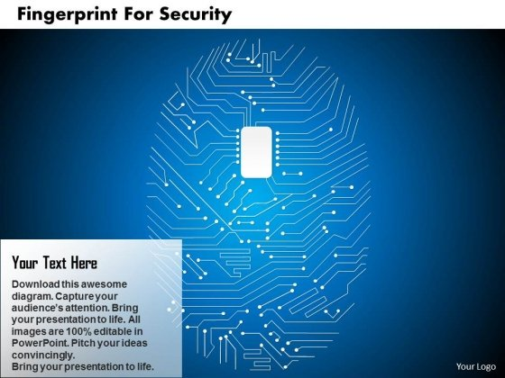 Finger Print Circuit For Security Analysis Powerpoint Template