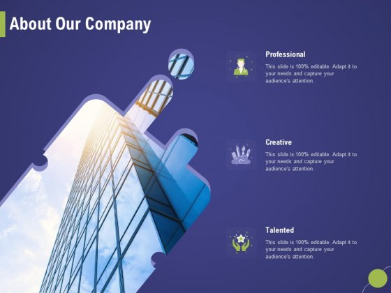 Firm Capability Assessment About Our Company Ppt Inspiration Smartart PDF