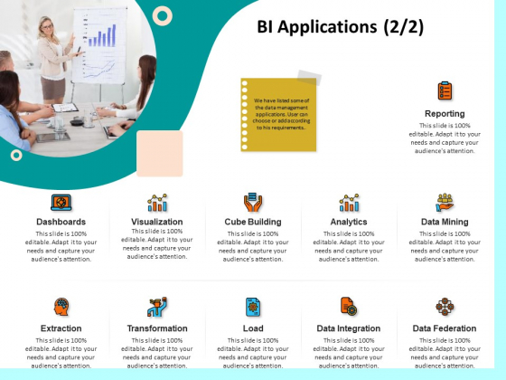 Firm Productivity Administration BI Applications Reporting Ppt PowerPoint Presentation Outline Example Introduction PDF