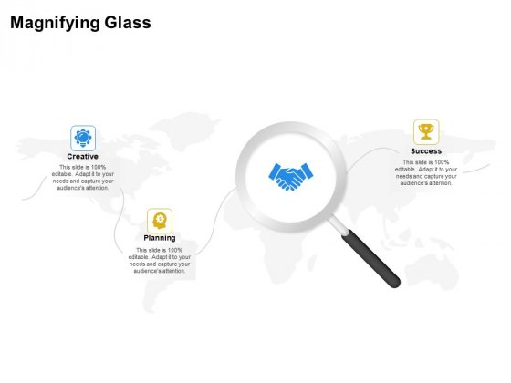 Firm Working Together Magnifying Glass Ppt Ideas Graphics PDF