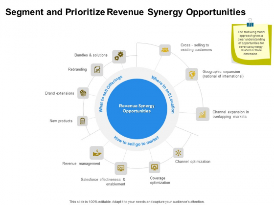 Firm Working Together Segment And Prioritize Revenue Synergy Opportunities Ppt Gallery Template PDF