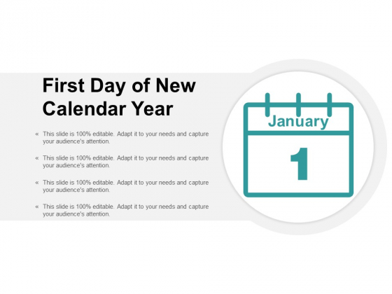First Day Of New Calendar Year Ppt PowerPoint Presentation Layouts Objects