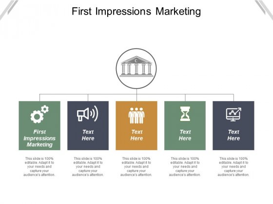 First Impressions Marketing Ppt PowerPoint Presentation Gallery Icons Cpb