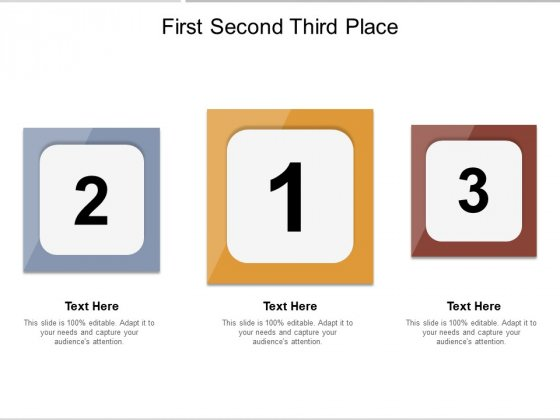 First Second Third Place Ppt PowerPoint Presentation Summary Vector