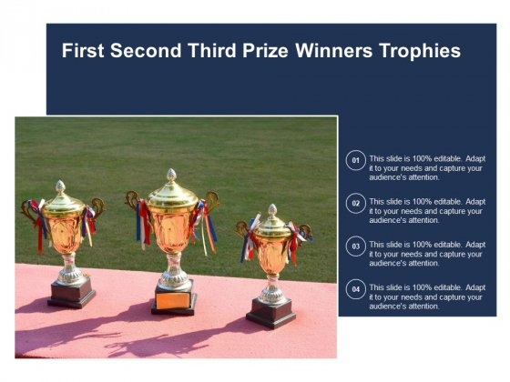 First Second Third Prize Winners Trophies Ppt PowerPoint Presentation Styles Background