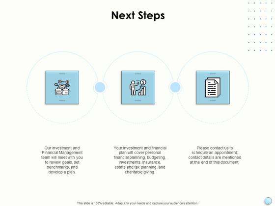 Fiscal Management Next Steps Ppt Ideas Shapes PDF
