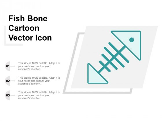 Fish Bone Cartoon Vector Icon Ppt Powerpoint Presentation Templates