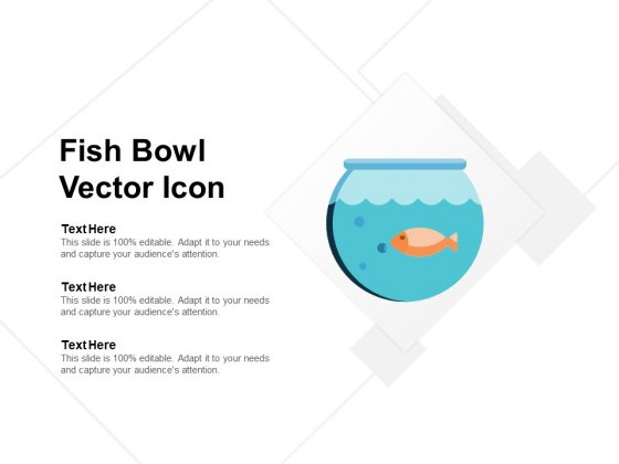 Fish Bowl Vector Icon Ppt Powerpoint Presentation Infographics Slide Portrait