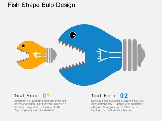 Fish Shape Bulb Design Powerpoint Templates