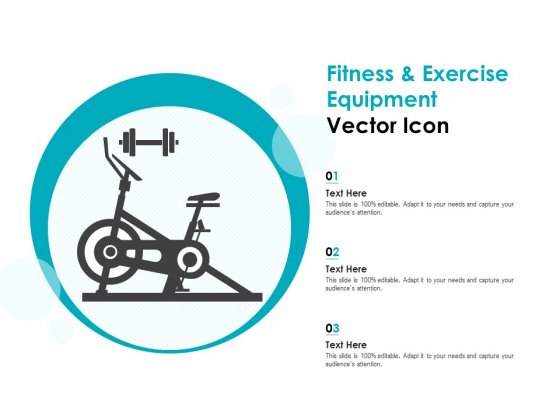 Fitness And Exercise Equipment Vector Icon Ppt PowerPoint Presentation Pictures Master Slide
