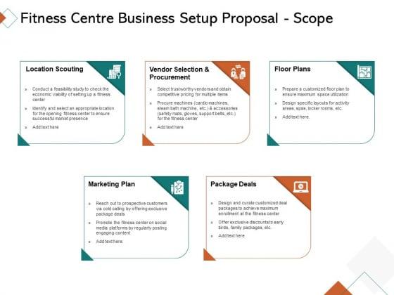 Fitness Centre Business Setup Proposal Scope Ppt Infographics Good PDF