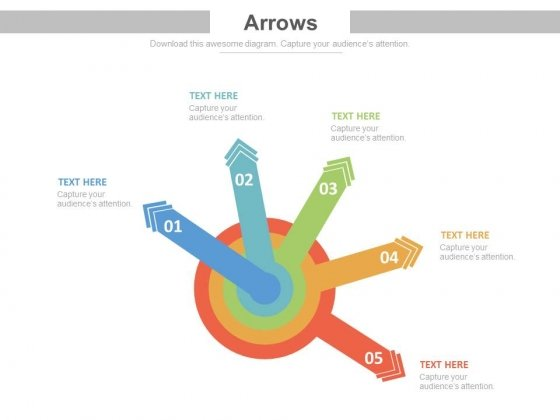 Five Arrows Circle For Business Management Strategy Powerpoint Template