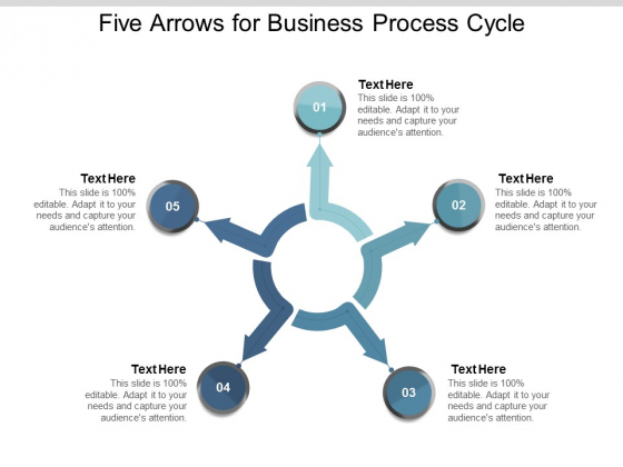 Five Arrows For Business Process Cycle Ppt Powerpoint Presentation Outline Background Images