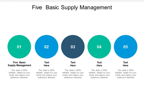 Five Basic Supply Management Ppt PowerPoint Presentation Pictures Tips