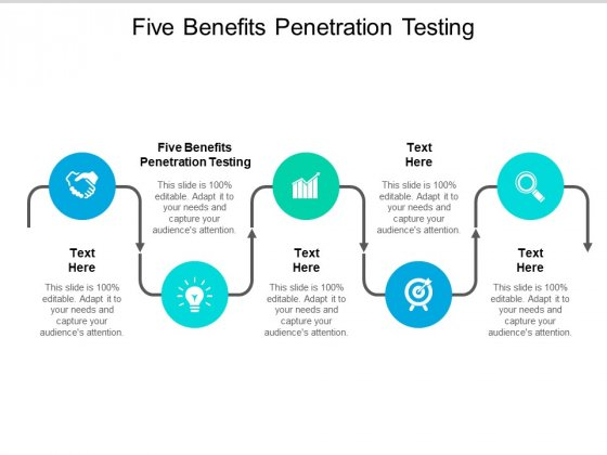 Five Benefits Penetration Testing Ppt PowerPoint Presentation Outline Introduction Cpb