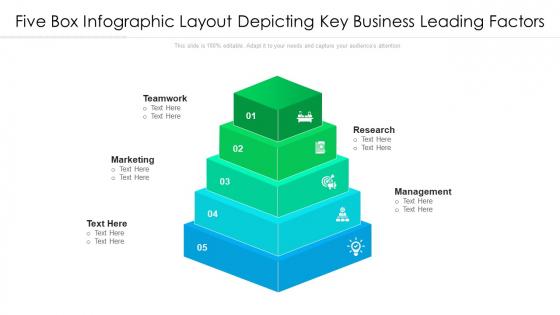Five Box Infographic Layout Depicting Key Business Leading Factors Ppt PowerPoint Presentation Icon Portfolio PDF