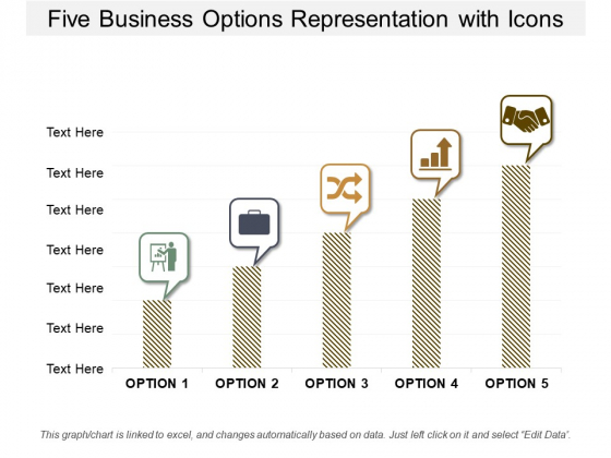 Five Business Options Representation With Icons Ppt Powerpoint Presentation Portfolio Aids