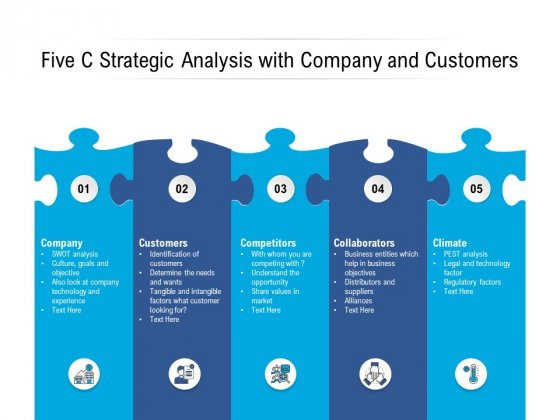 Five C Strategic Analysis With Company And Customers Ppt PowerPoint Presentation Layouts Diagrams PDF