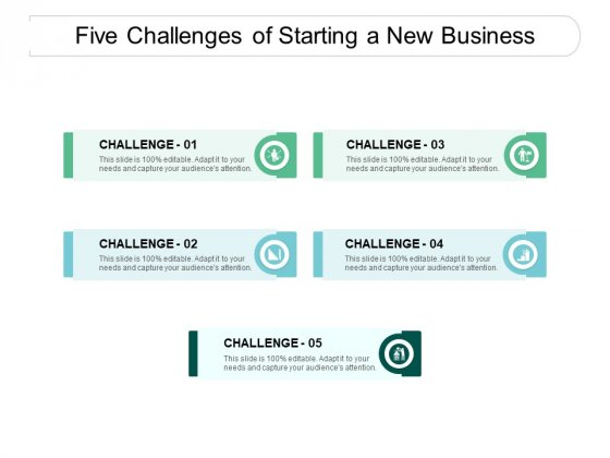 Five Challenges Of Starting A New Business Ppt PowerPoint Presentation Summary Picture