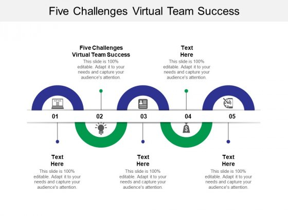 Five Challenges Virtual Team Success Ppt PowerPoint Presentation Portfolio Show Cpb