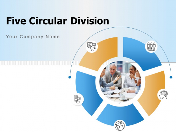 Five Circular Division Human Resource Management Circle Ppt PowerPoint Presentation Complete Deck