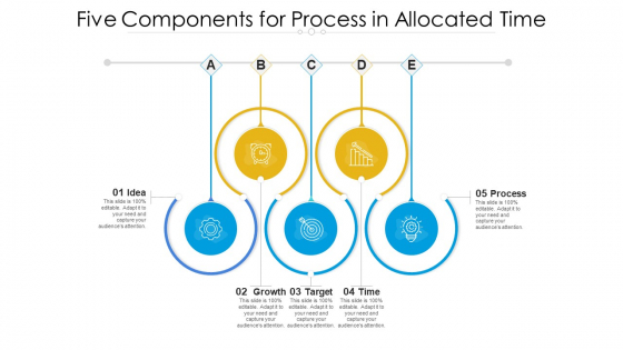 Five Components For Process In Allocated Time Ppt PowerPoint Presentation File Layouts PDF