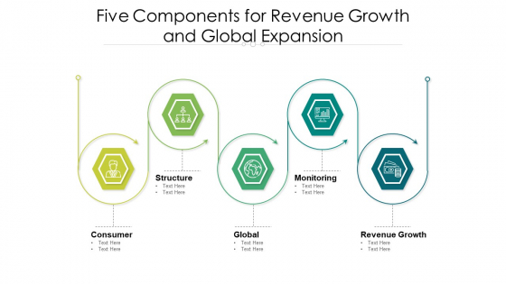Five Components For Revenue Growth And Global Expansion Ppt PowerPoint Presentation Gallery Show PDF