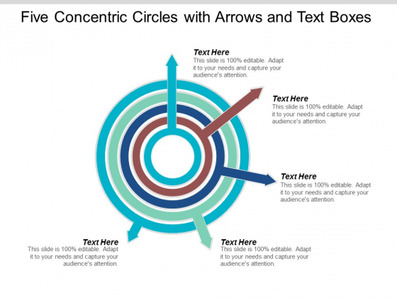 Five Concentric Circles With Arrows And Text Boxes Ppt Powerpoint Presentation Portfolio Visuals