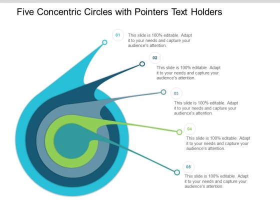 Five Concentric Circles With Pointers Text Holders Ppt Powerpoint Presentation Pictures Mockup