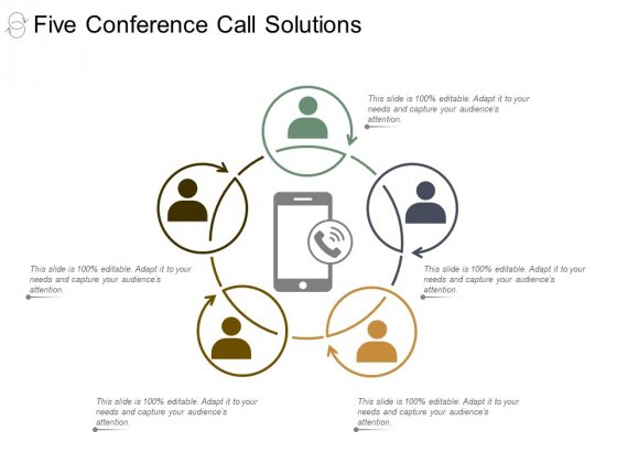 Five Conference Call Solutions Ppt Powerpoint Presentation Layouts Information