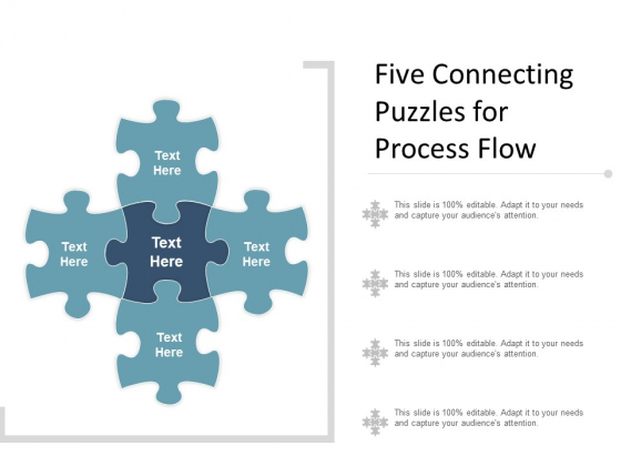 Five Connecting Puzzles For Process Flow Ppt PowerPoint Presentation Inspiration Graphics Tutorials