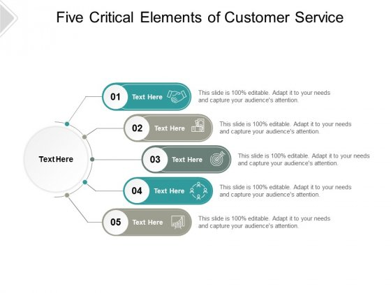 Five Critical Elements Of Customer Service Ppt PowerPoint Presentation Inspiration Background
