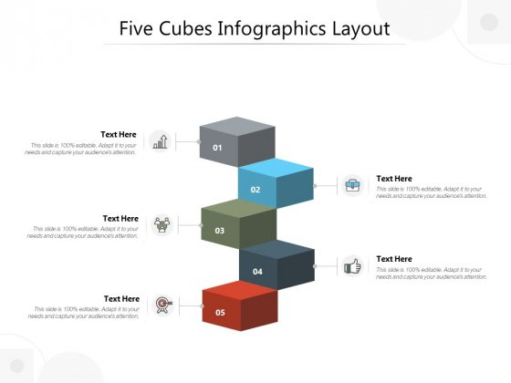 Five Cubes Infographics Layout Ppt PowerPoint Presentation Icon Elements