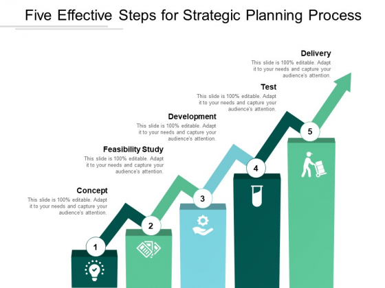 Five Effective Steps For Strategic Planning Process Ppt PowerPoint Presentation Portfolio Ideas