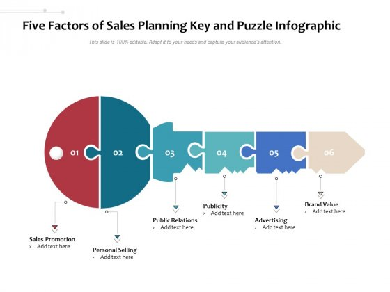 Five_Factors_Of_Sales_Planning_Key_And_Puzzle_Infographic_Ppt_PowerPoint_Presentation_Model_Design_Inspiration_PDF_Slide_1