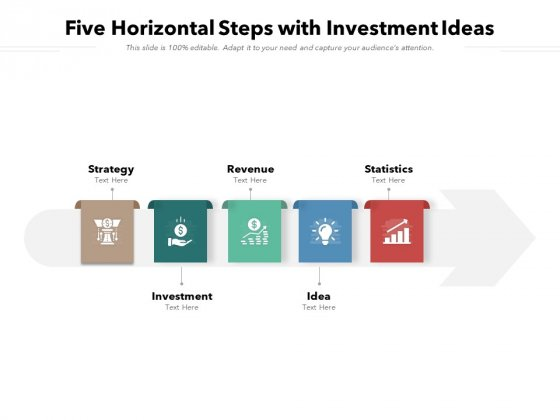 Five Horizontal Steps With Investment Ideas Ppt PowerPoint Presentation Gallery Smartart PDF