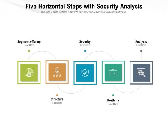 Five Horizontal Steps With Security Analysis Ppt PowerPoint Presentation Gallery Background Image PDF