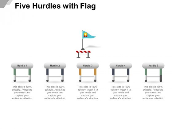 Five Hurdles With Flag Ppt PowerPoint Presentation Outline Graphic Tips