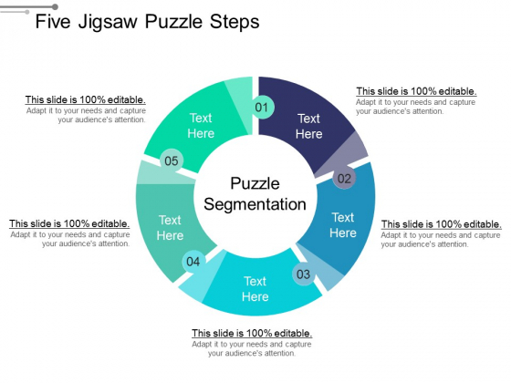 Five Jigsaw Puzzle Steps Ppt PowerPoint Presentation Icon Infographic Template