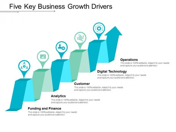 Five Key Business Growth Drivers Ppt Powerpoint Presentation Portfolio Topics