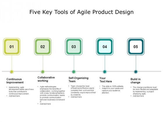 Five Key Tools Of Agile Product Design Ppt PowerPoint Presentation Icon Diagrams PDF