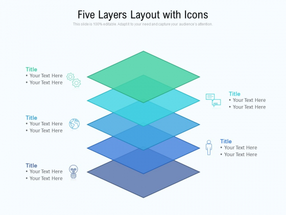 Five Layers Layout With Icons Ppt PowerPoint Presentation File Templates