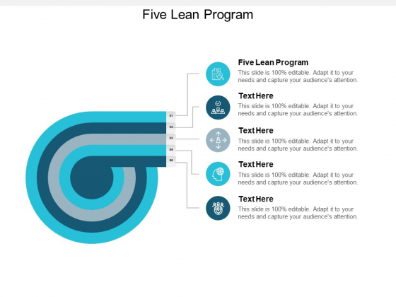 Five Lean Program Ppt PowerPoint Presentation Icon Guide Cpb