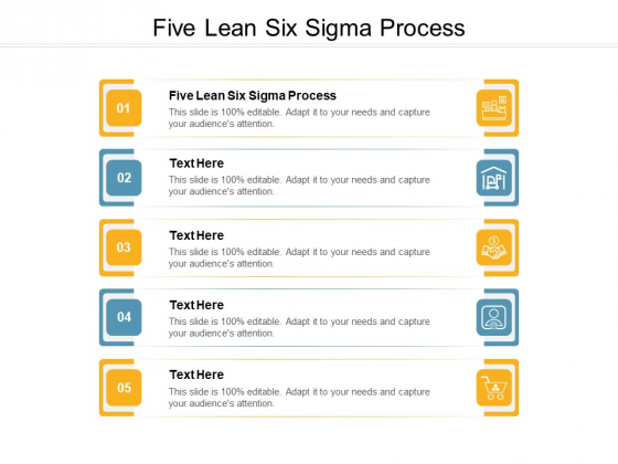 Five Lean Six Sigma Process Ppt PowerPoint Presentation Infographic Template Graphics Template Cpb