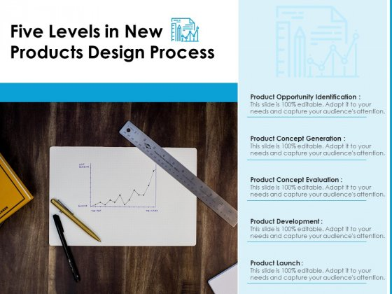 Five Levels In New Products Design Process Ppt PowerPoint Presentation File Styles PDF
