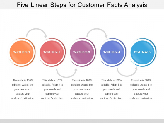 Five Linear Steps For Customer Facts Analysis Ppt PowerPoint Presentation Portfolio Format Ideas PDF