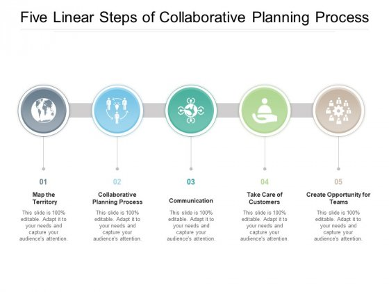 Five Linear Steps Of Collaborative Planning Process Ppt PowerPoint Presentation Model Rules
