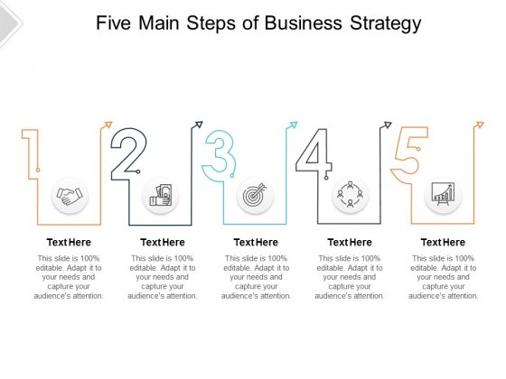 Five Main Steps Of Business Strategy Ppt PowerPoint Presentation Inspiration Shapes