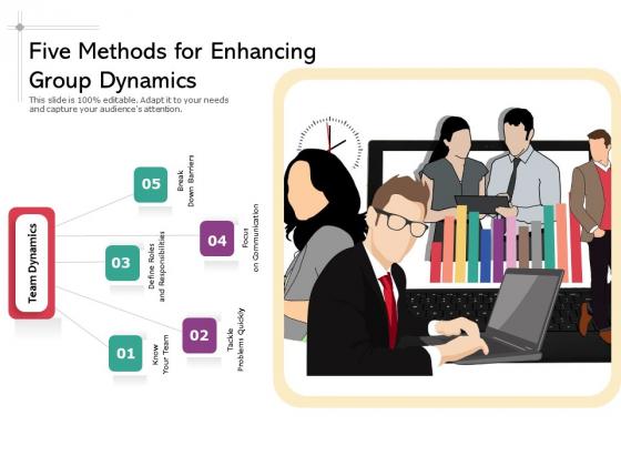 Five_Methods_For_Enhancing_Group_Dynamics_Ppt_PowerPoint_Presentation_Summary_Mockup_PDF_Slide_1