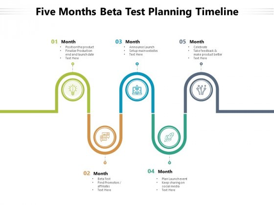 Five Months Beta Test Planning Timeline Ppt PowerPoint Presentation Pictures PDF